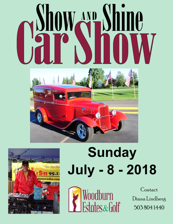 Car Show 2018 Poster with sponsors