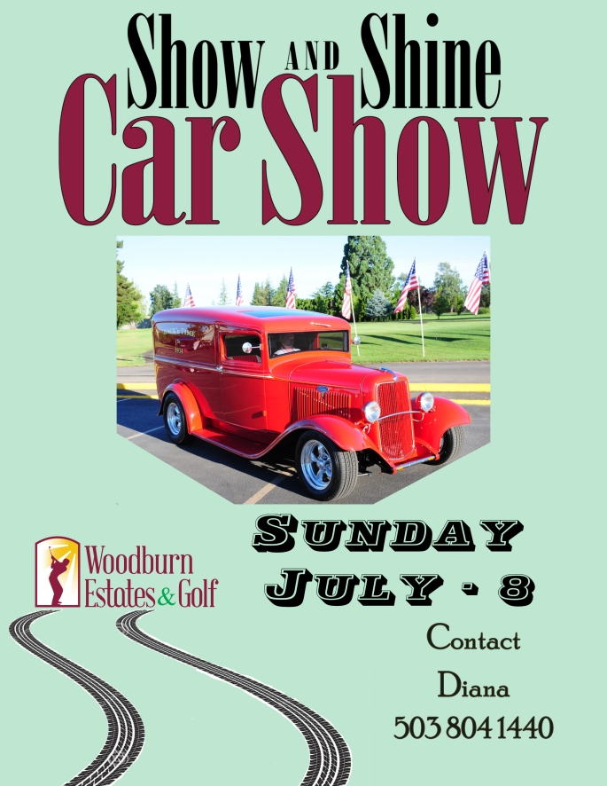 Car Show 2018 Poster with tire tracks 007