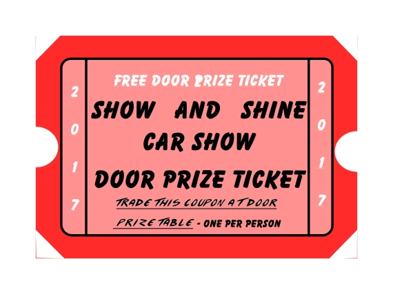 Show and Shine Door Prize Coupon