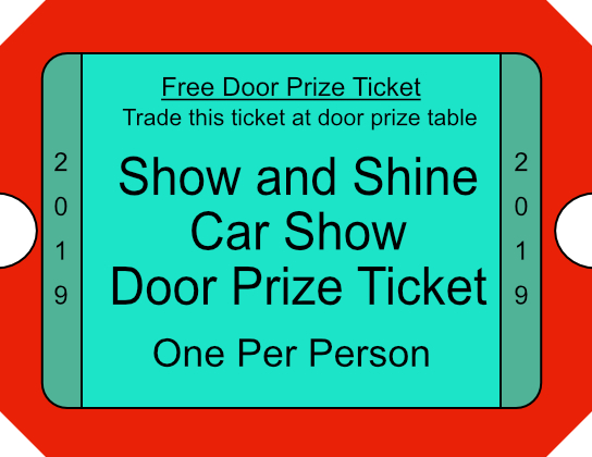 door prize ticket 2019