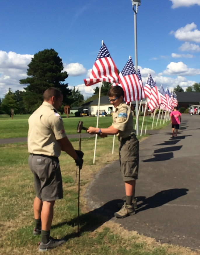 2019 - 000 4 Flags up for car show - July 11, 2019 THREE