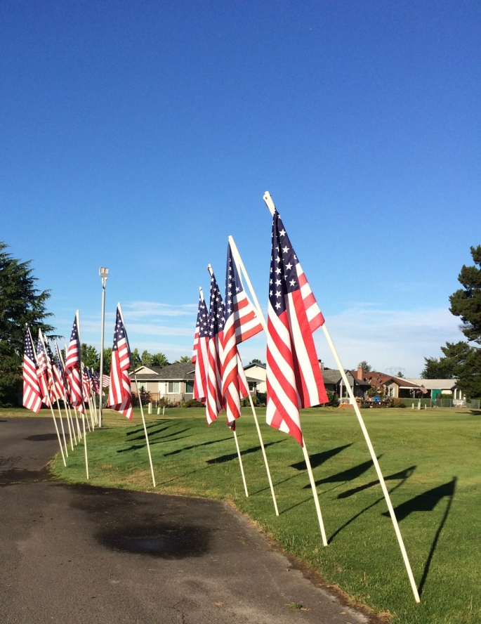 2019 - 001- Flags ready for car show July 12, 2019 TWO )