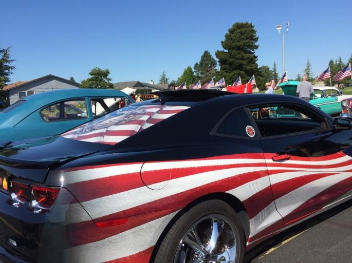 2019 - Flag car by blue Gary clark car July 14