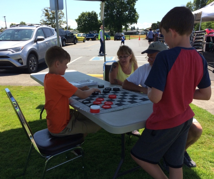 2019 - Playing Checkers TWO - July 14)